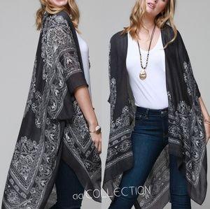 345cc1febd Sweaters - Mandala kimono paisley print scarf coverup beach